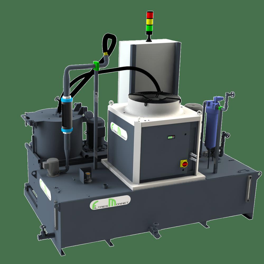 Filtres MONNET assemble des centrales pour l'affutage