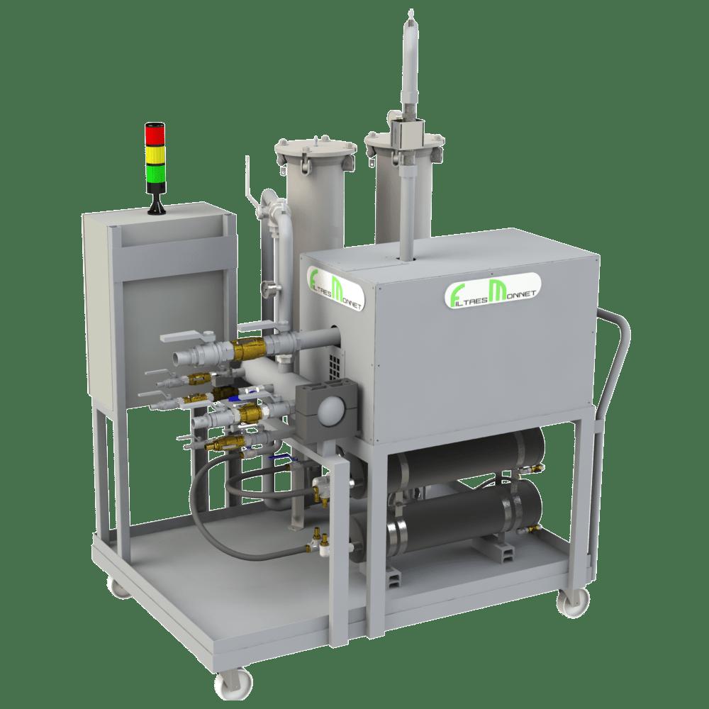 Filtres MONNET assemble des centrales pour l'électro-érosion
