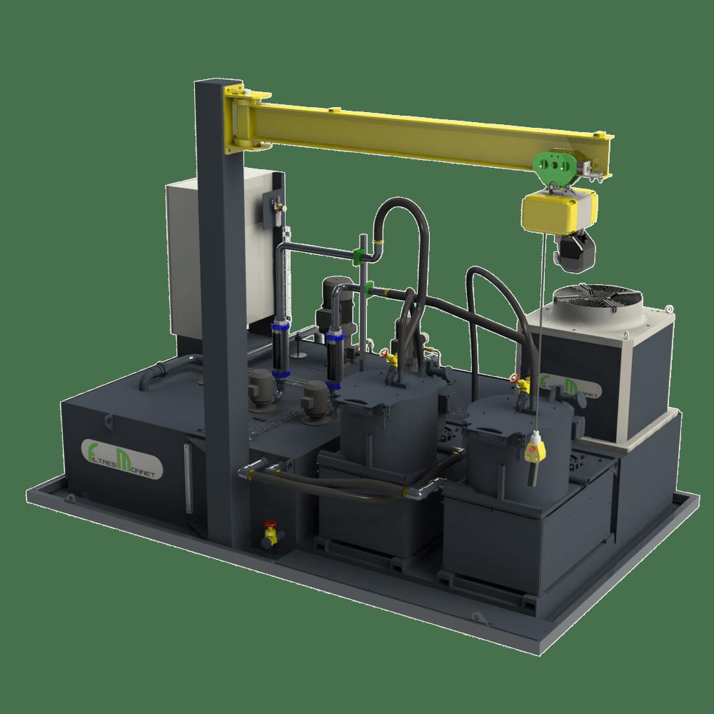 Filtres MONNET assemble des centrales pour les machines de polissage et de rodage